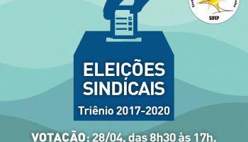 Eleições Sindicais 2017: Votação é na próxima semana. Não perca!